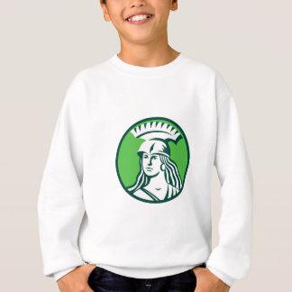 スパルタ式の女性の戦士の円のレトロ スウェットシャツ