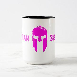 スパルタ式の姉妹のマグ ツートーンマグカップ