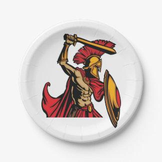 スパルタ式の戦士の紙皿 ペーパープレート