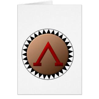 スパルタ式の盾のメッセージカード カード