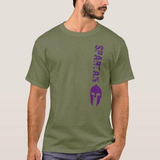 スパルタ式の紫色 Tシャツ