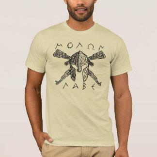 スパルタ式カラシニコフ自動小銃Molon Labe Tシャツ