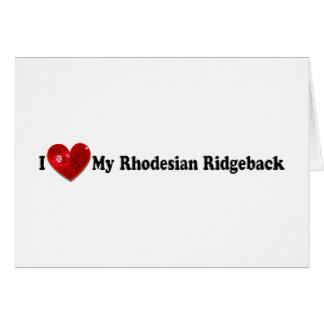 スパンコールのイメージのRhodesian赤いRidgeback犬 カード