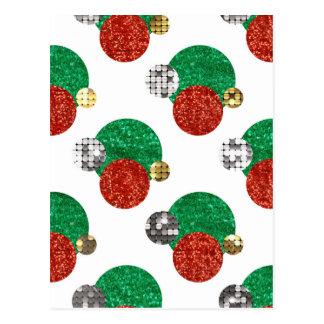 スパンコールのクリスマスの点 ポストカード