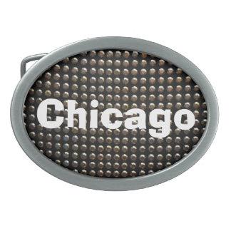 スパンコールのシカゴのベルトの留め金 卵形バックル