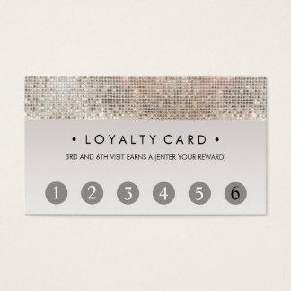 スパンコールの美容院6の穿孔器の顧客のロイヤリティカード 名刺