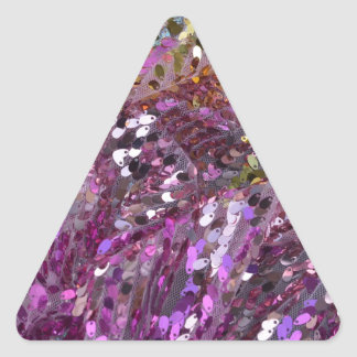 スパンコールの虹色の輝きの宝石 三角形シール