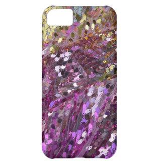 スパンコールの虹色の輝きの宝石 iPhone5Cケース