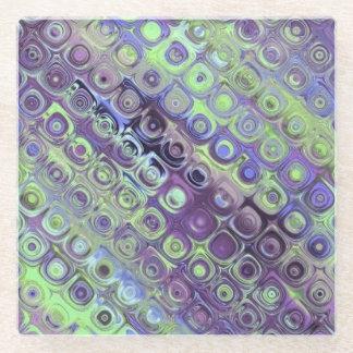 スパンコールの鏡のデザイン ガラスコースター