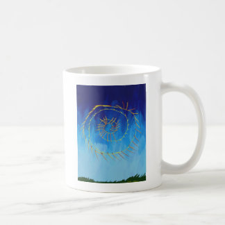 スピリチュアルの抽象的な表現主義者の自然の青のyello コーヒーマグカップ