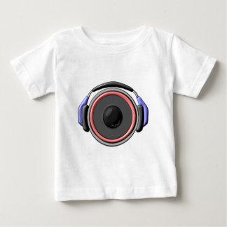 スピーカーのヘッドホーン ベビーTシャツ