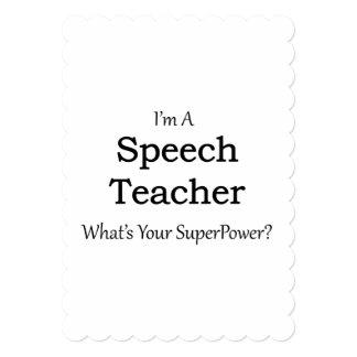 スピーチの先生 カード