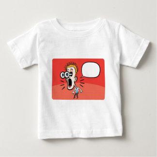スピーチの泡を持つ漫画の意外なビジネスマン ベビーTシャツ