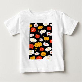 スピーチの泡ハロウィン ベビーTシャツ