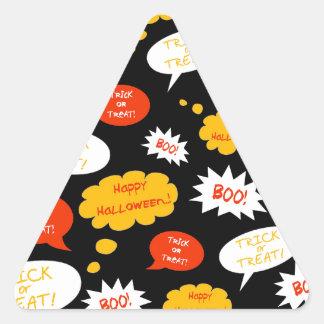 スピーチの泡ハロウィン 三角形シール