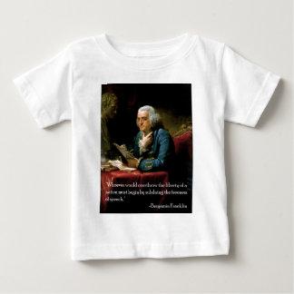 スピーチのBenjamin_Franklin_1767引用文 ベビーTシャツ