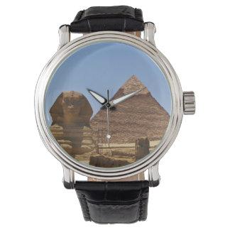スフィンクスおよびピラミッド 腕時計