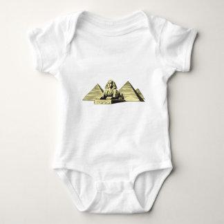 スフィンクスのピラミッドエジプト ベビーボディスーツ