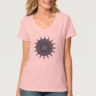 スフィンクスガパターン青い曼荼羅のTシャツ Tシャツ