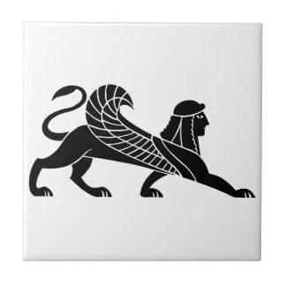 スフィンクス、ギリシャのレリーフ、浮き彫りのデザイン タイル