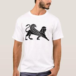 スフィンクス、ギリシャのレリーフ、浮き彫りのデザイン Tシャツ