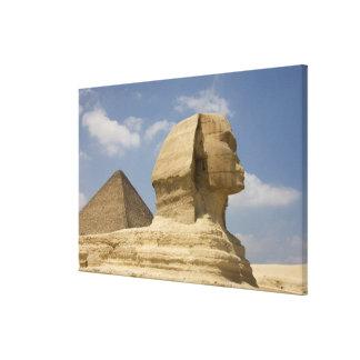 スフィンクス、ギーザのAl Jizah、エジプト キャンバスプリント
