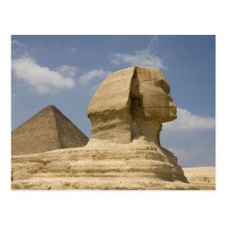 スフィンクス、ギーザのAl Jizah、エジプト ポストカード