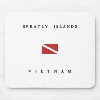 スプラトリー諸島のベトナムのスキューバ飛び込みの旗 マウスパッド