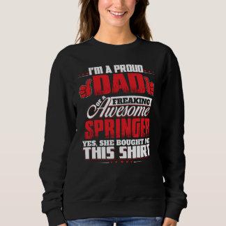 スプリンガーのTシャツがあること誇りを持った スウェットシャツ