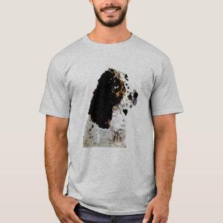 スプリンガースパニエル犬の絵画 Tシャツ