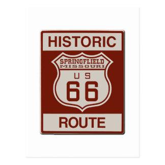 スプリングフィールドのルート66 ポストカード