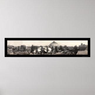 スプリングフィールドの州の公平な写真1909年 ポスター