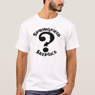 スプリングフィールドの懐疑者のロゴのTシャツ Tシャツ