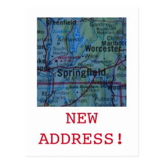スプリングフィールドの新しい住所発表 ポストカード