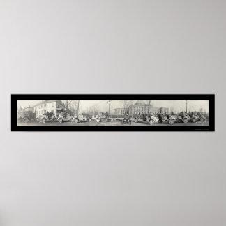 スプリングフィールドの消防署の写真1917年 ポスター