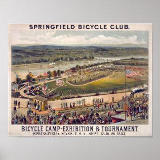 スプリングフィールドの自転車クラブヴィンテージポスター芸術 ポスター