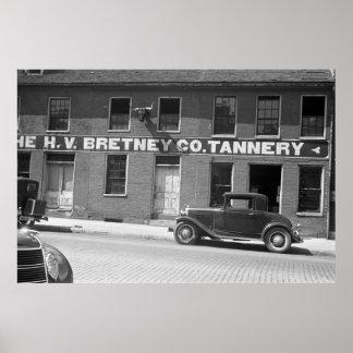 スプリングフィールドの製革所、30年代 ポスター
