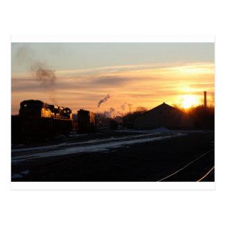 スプリングフィールドの西のヤードの日の出 ポストカード
