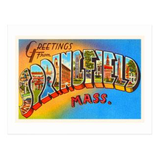スプリングフィールドマサチューセッツMA古い旅行記念品 ポストカード