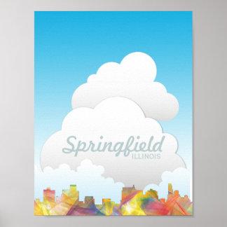スプリングフィールド、イリノイのスカイラインWB1 - ポスター