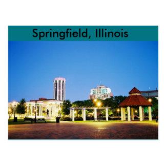 スプリングフィールド、イリノイの郵便はがき ポストカード