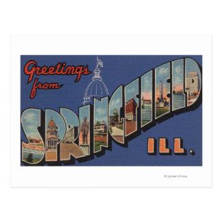 スプリングフィールド、イリノイ-大きい手紙場面 ポストカード