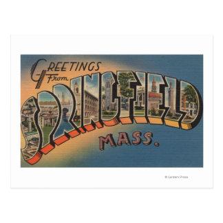 スプリングフィールド、マサチューセッツ-大きい手紙2 ポストカード