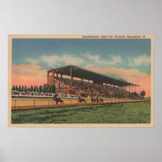 スプリングフィールド、IL -国家--の公平な地面の馬 ポスター