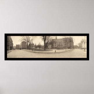 スプリングフィールドMAの正方形の写真1909年 ポスター