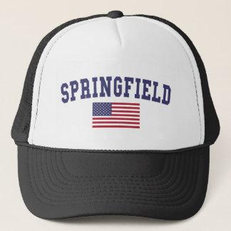 スプリングフィールドMA米国の旗 キャップ