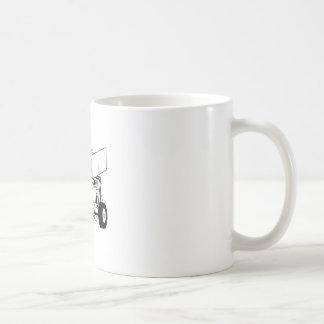 スプリント車の輪郭 コーヒーマグカップ