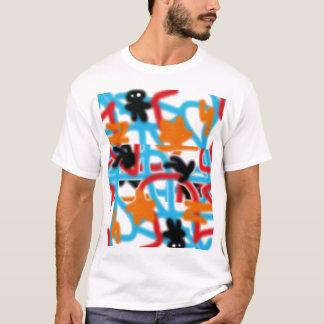 スプレー式塗料のカスタム Tシャツ