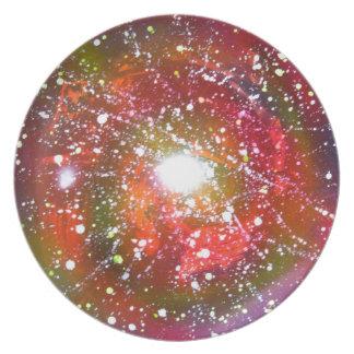 スプレー式塗料の芸術の夜空の宇宙の絵画 プレート