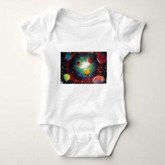 スプレー式塗料の芸術の宇宙の銀河系の絵画 ベビーボディスーツ